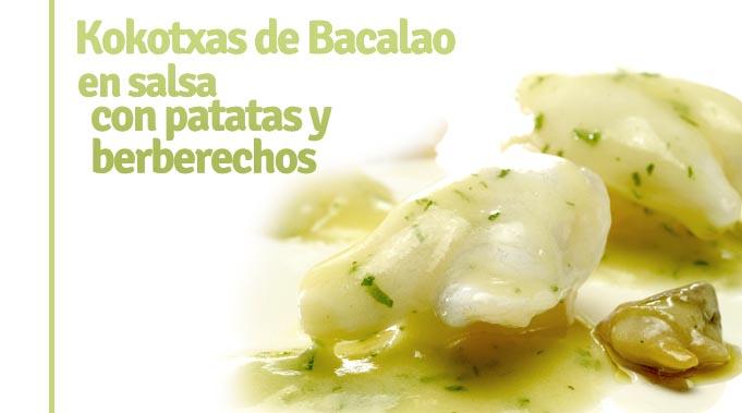 Kokotxas de bacalao en salsa con patatas y berberechos