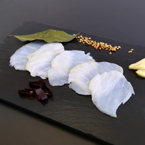 Desalted cod - Carpaccio